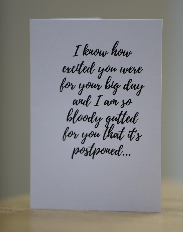Postponed Wedding Card