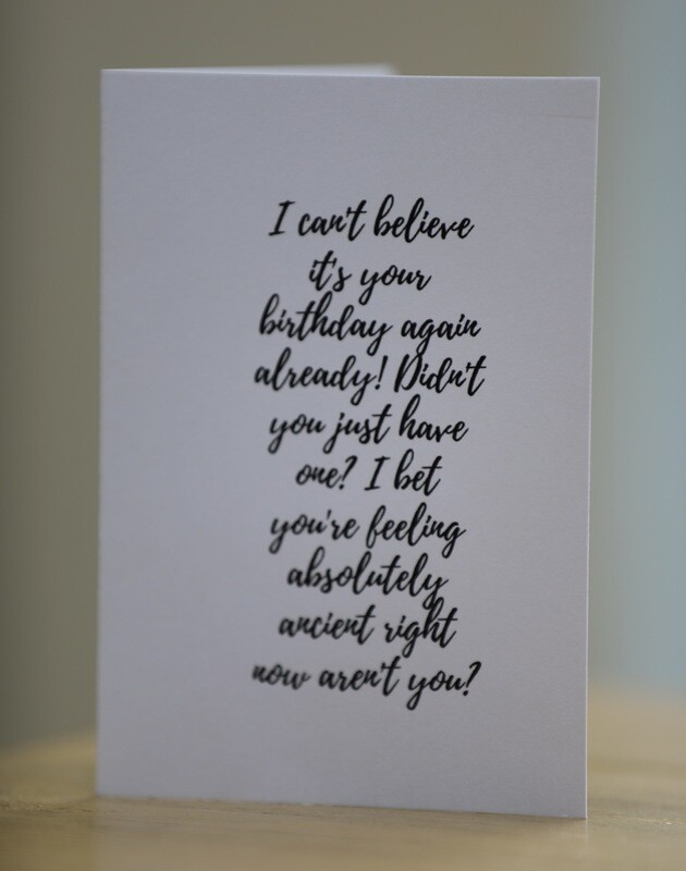 Proper Old Birthday Card
