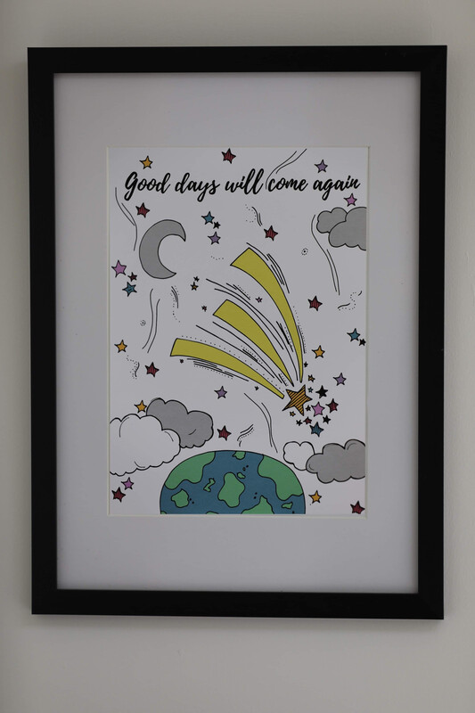 'Good Days Will Come Again' Framed Print
