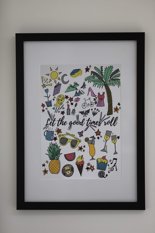 'Let The Good Times Roll' Framed Print