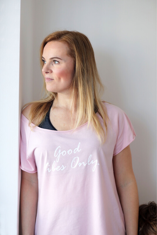 Soft Pink Yoga T-shirt