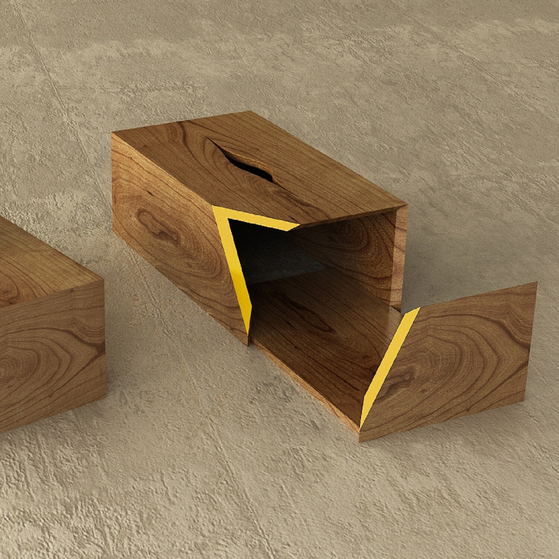 Tissue Box w/ Sliding tray