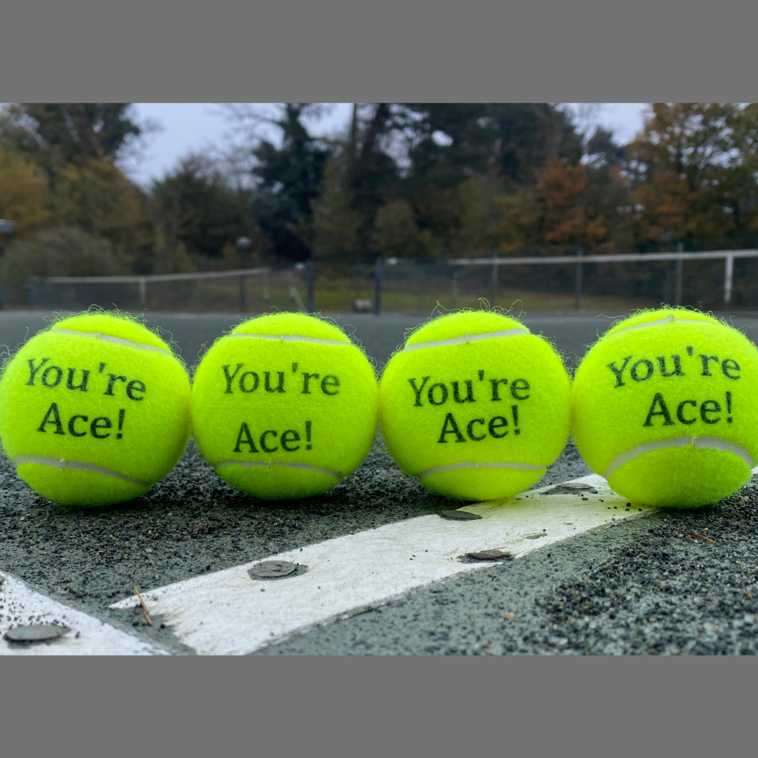 NTB Personalised Adult's Tennis Balls - Standard Text Edition