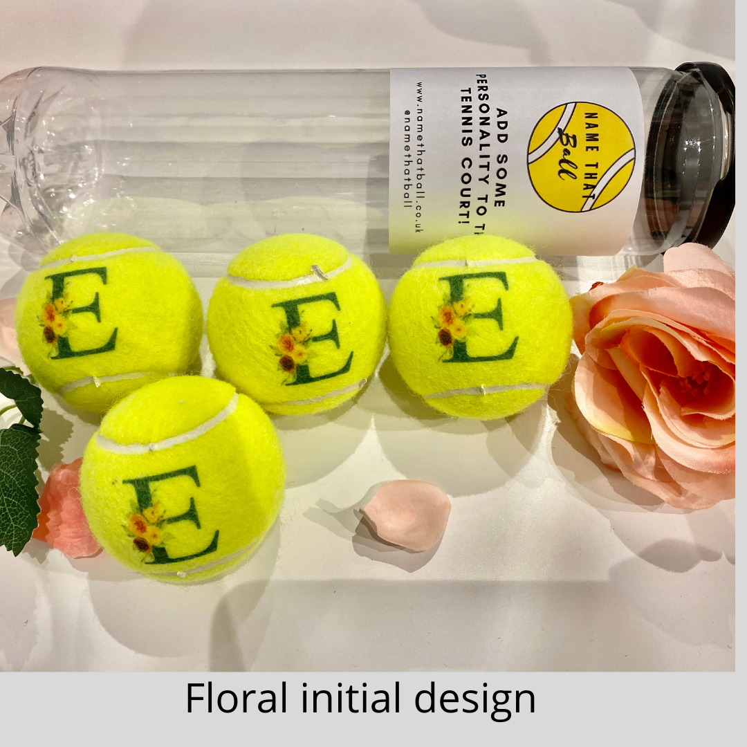 NTB Personalised Adult's Tennis Balls - Small Design Edition