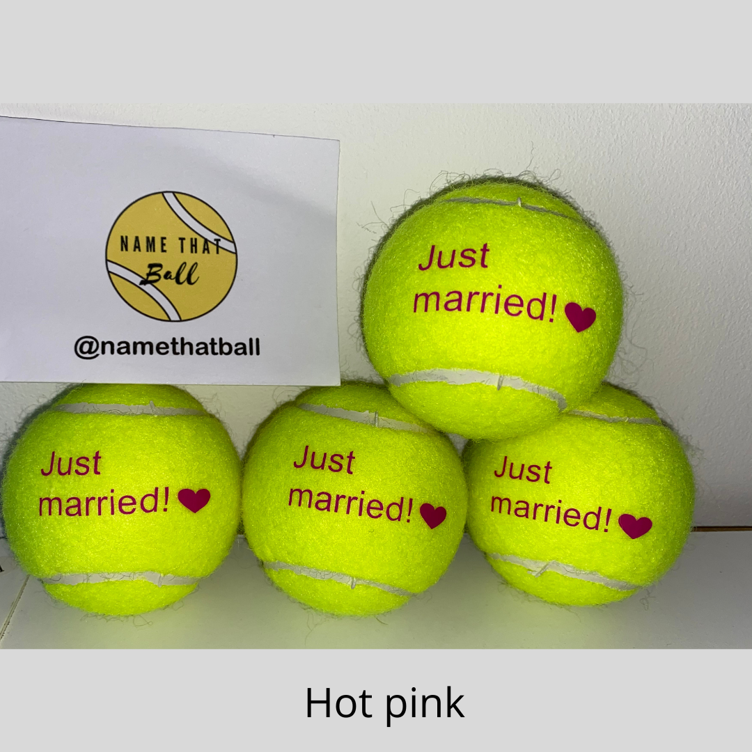 NTB Personalised Adult's Tennis Balls - Glitz & Glam Edition