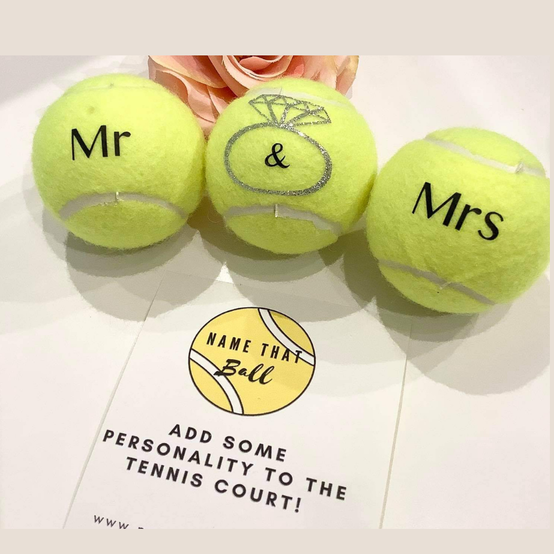 NTB Personalised Adult's Tennis Balls - Wedding Edition