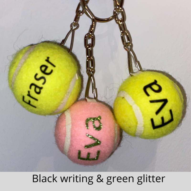 NTB Personalised  Tennis Ball Keyring - Standard Text Edition