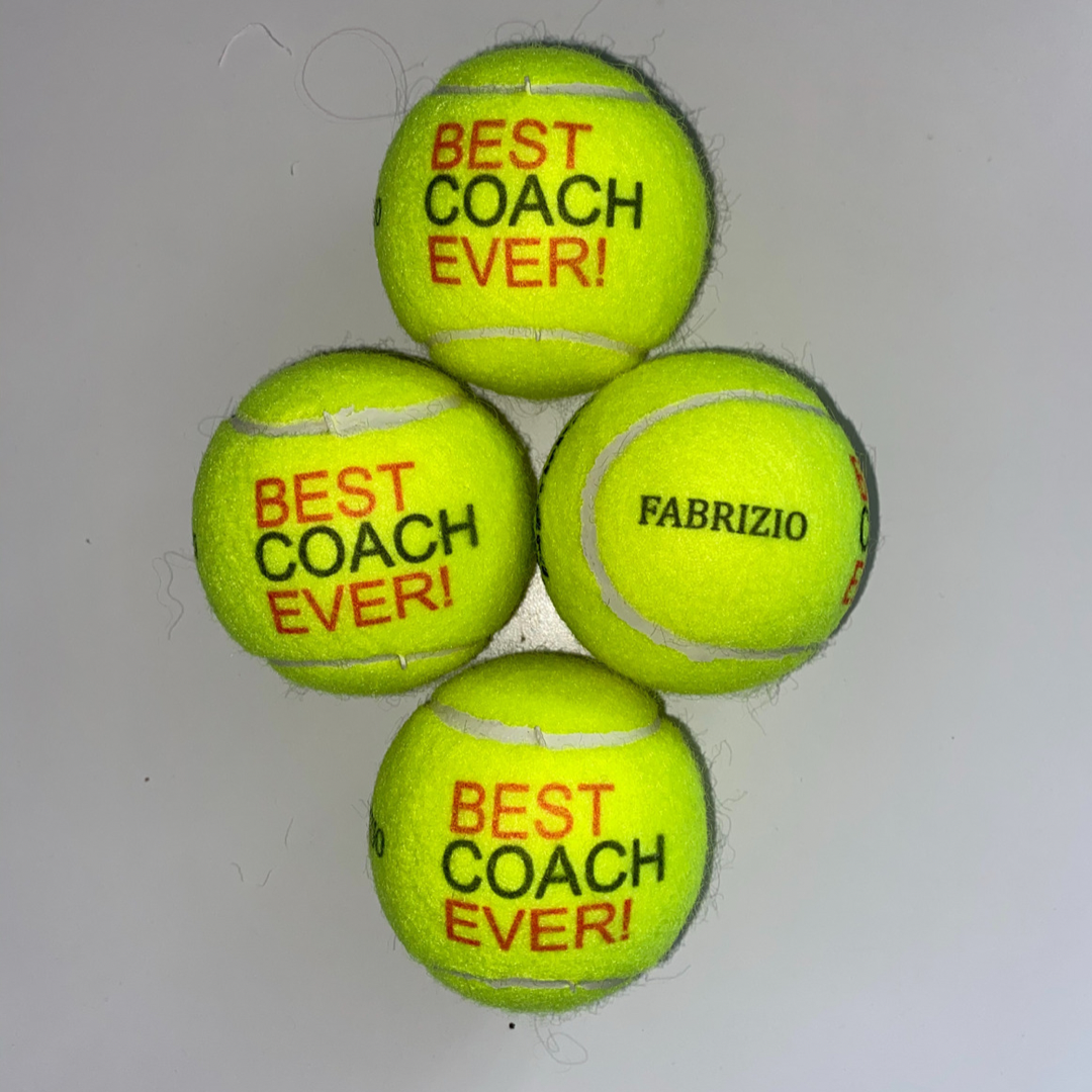 NTB Personalised Coaches Tennis Balls - Best Coach Edition