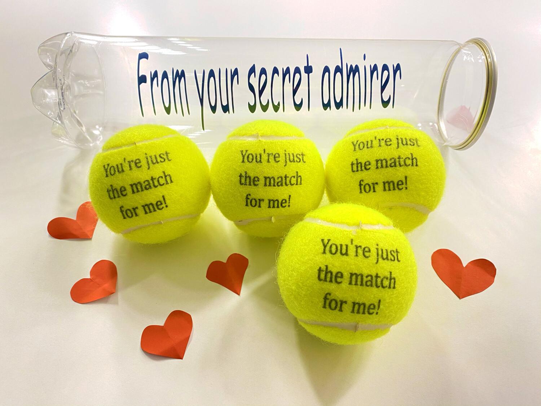 NTB - Personalised tennis balls - Valentines