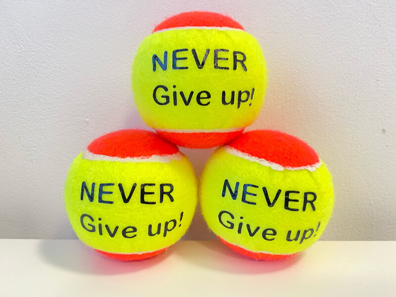 NTB - Personalised Adults Tennis Balls - Positive Mindset Edition