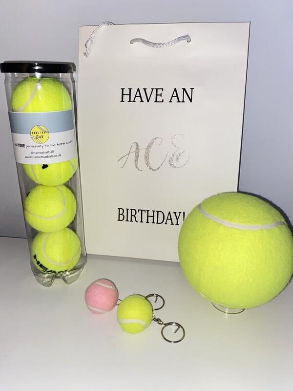 NTB - Personalised tennis birthday bag