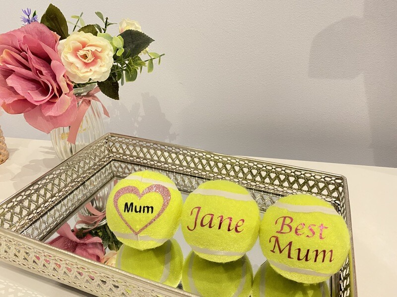 NTB Personalised Adult's tennis balls - Mothers day edition