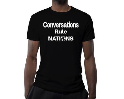 Men's T-Shirt CONVERSATIONS RULE NATIONS
