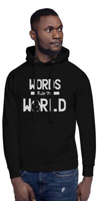 Men's Hoodies Words Rule The World