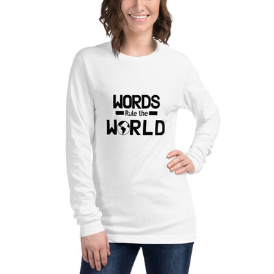 Women's Long Sleeve T-shirt Words Rule The World