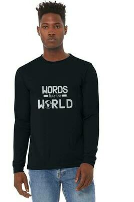 Men's Long Sleeve T-shirt Words Rule The World