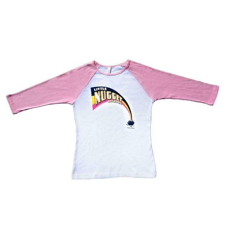 'Little Nugget' Pink Raglan - MEDIUM
