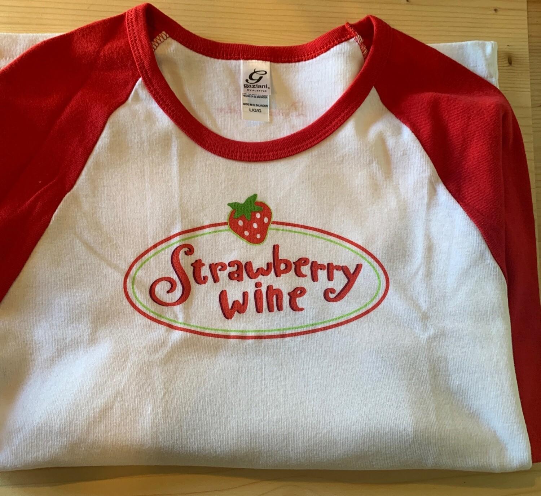 Strawberry Wine Baseball T-Shirts