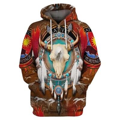 3D Hoodie-Buffalo Wolf