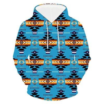 3D Hoodie-Navajo Turquoise