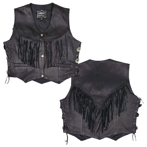 Leather Vest - Fringed