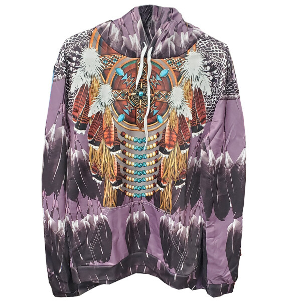3D Hoodie-Purple Feather