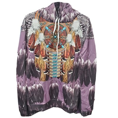 3D Hoodie-Purple Feather