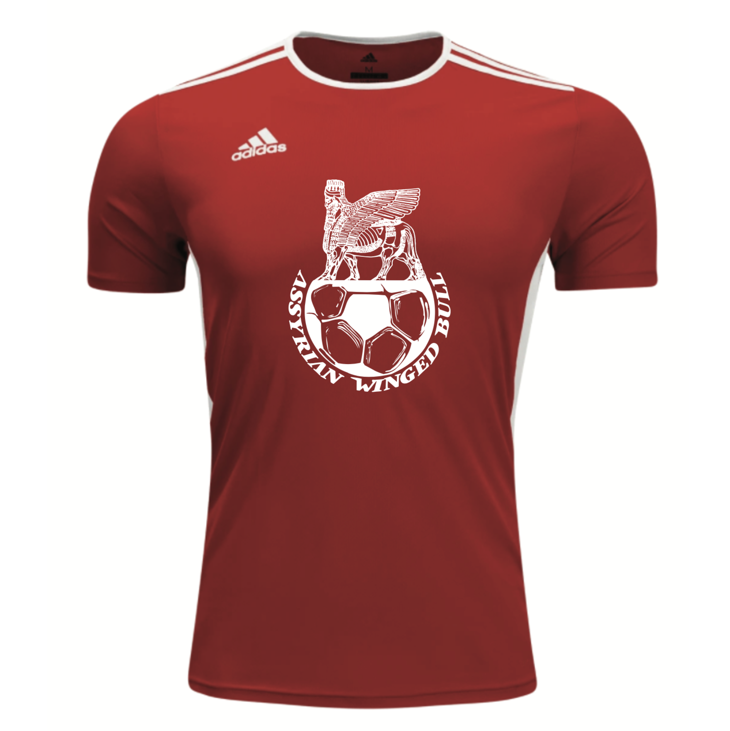 Red Winged Bull Throwback Soccer Jersey