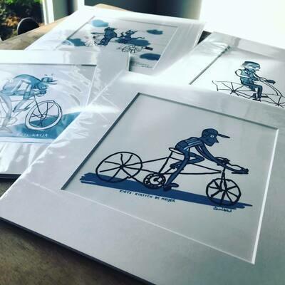 Ode aan de fiets (giclée-print)