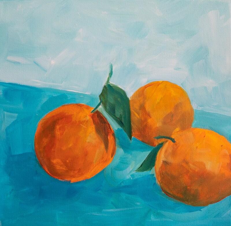 Orange Study | 12x12
