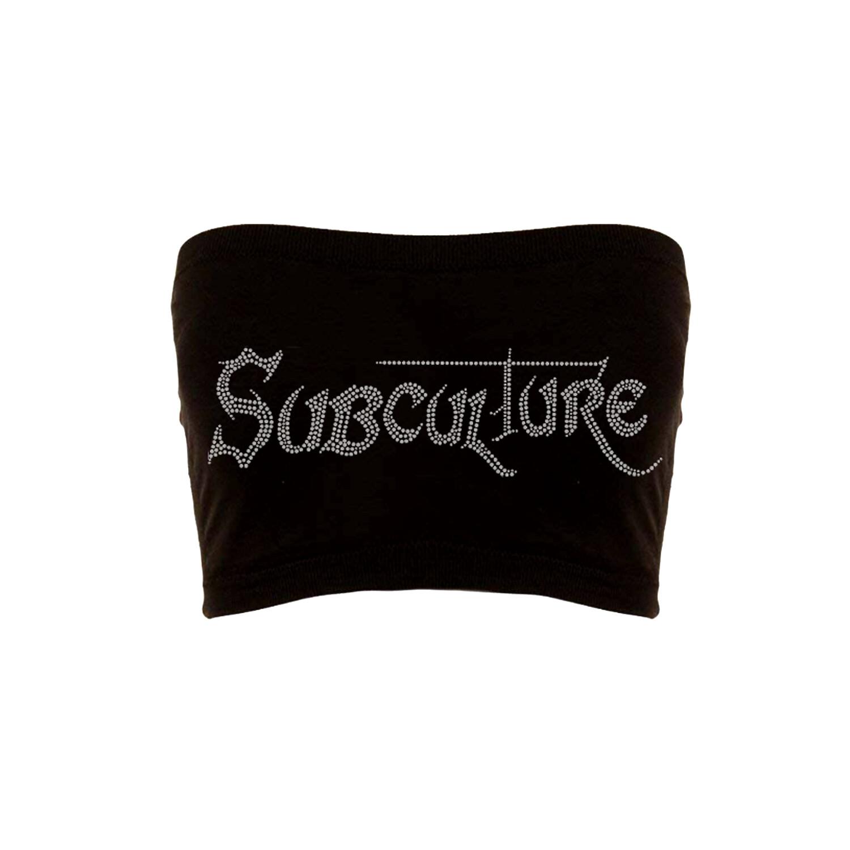 RHINESTONE SUBCULTURE TOP | BLACK