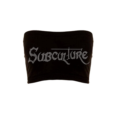 RHINESTONE SUBCULTURE TOP | BLACK