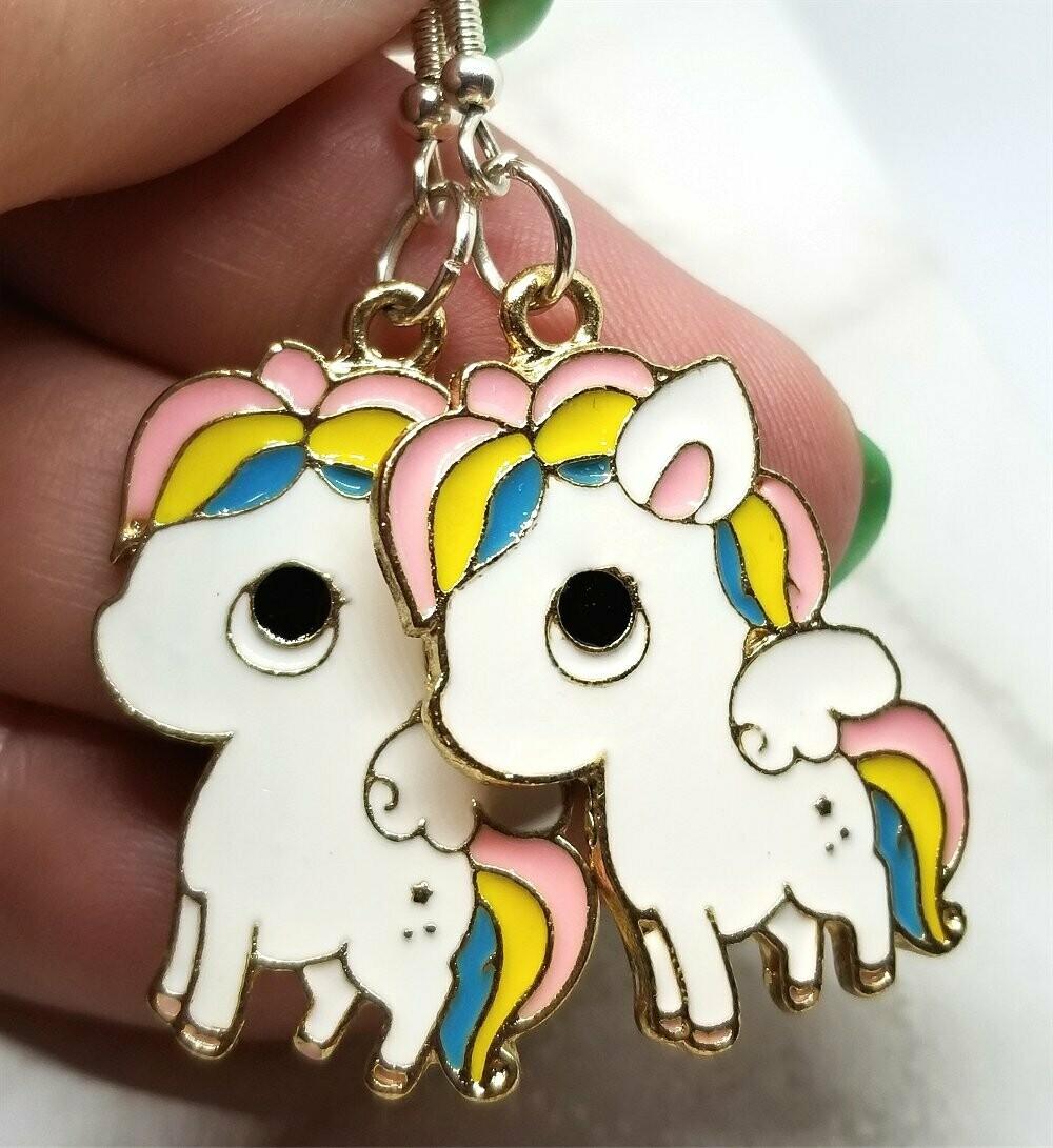 Large Unicorn Charm Earrings