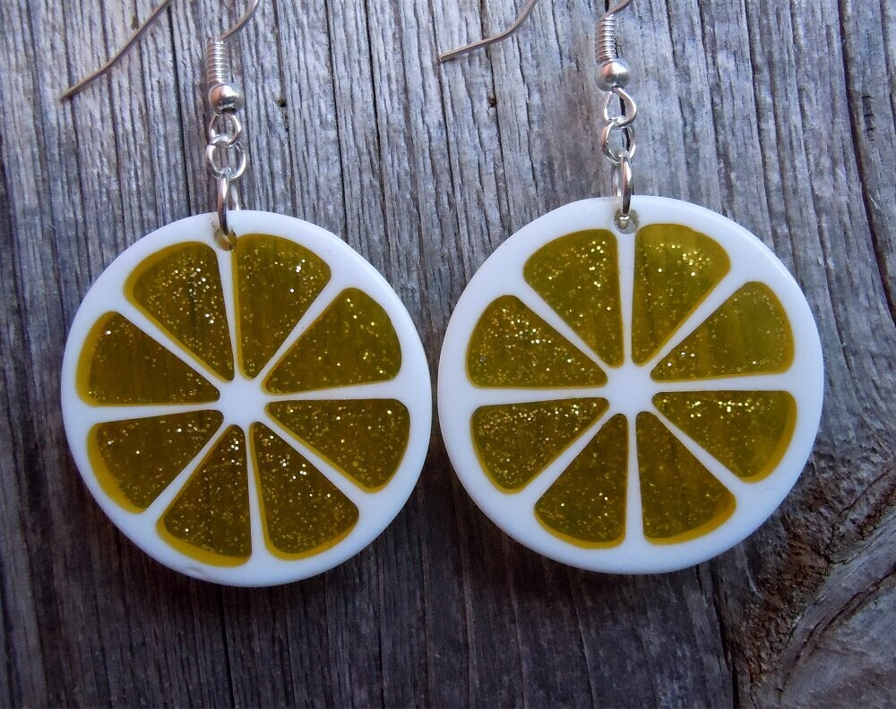 Lemon Slice Dangle Earrings
