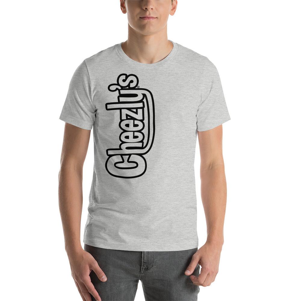 Cheezly's Large Logo - T-Shirt   Heather Grey