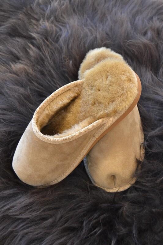 Lammfell Pantoffeln Herren