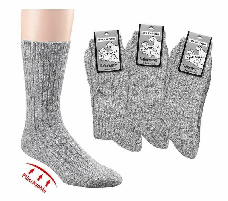 """Socken """"Plüschsohle"""" aus 100% Schafwolle"""