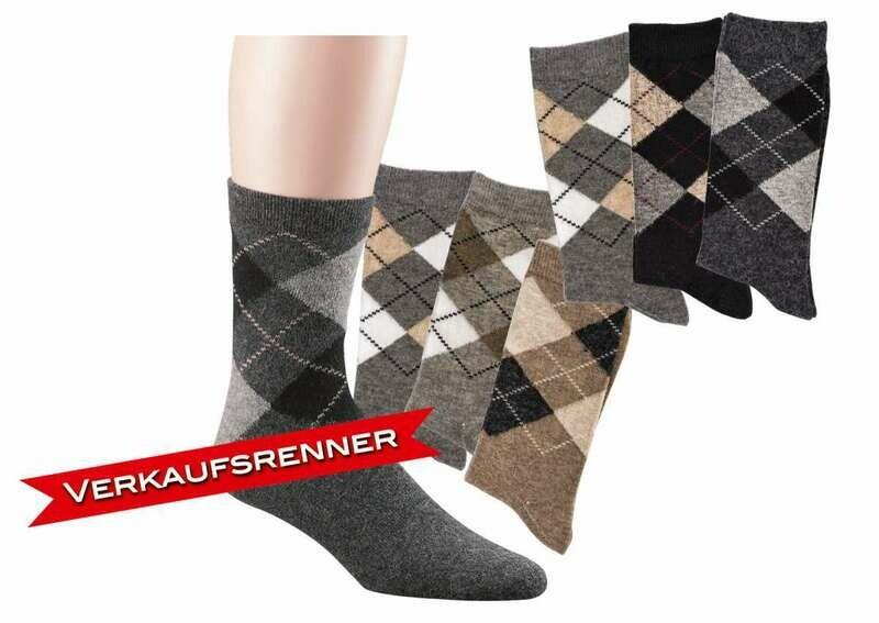 "Socken ""Alpaka"" mit Karomuster"