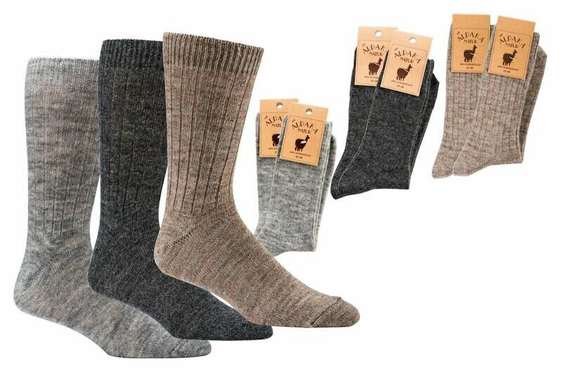 Socken mit Alpakawolle