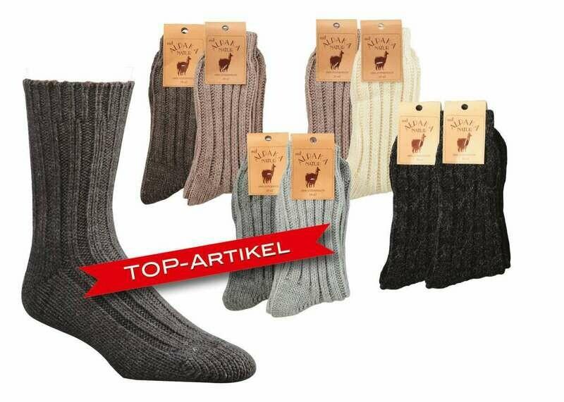 Socken mit Alpakawolle dick