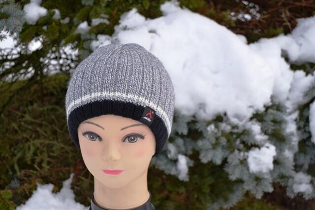 Woll-Mütze für Herren, grau