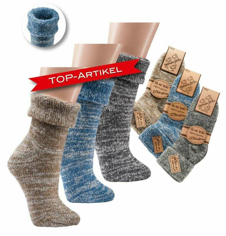 Thermo Wollsocke -ohne Abs-