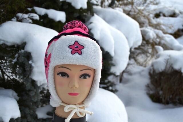 Wollmütze mit Bommel, pink