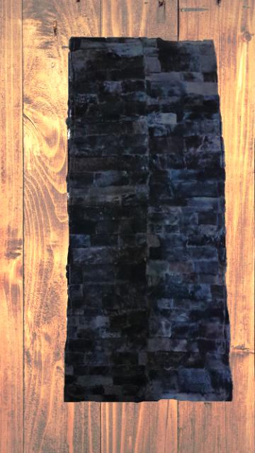 Lammfell-Teppich, Patchwork-Qualität, ca. 140x60 cm, dunkelbraun