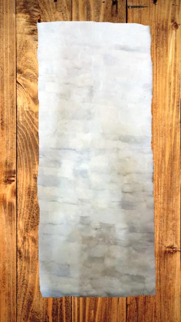 Lammfell-Teppich, Patchwork-Qualität, ca. 140x60 cm, weiß