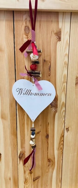 """Türhänger """"Willkommen"""" rot"""