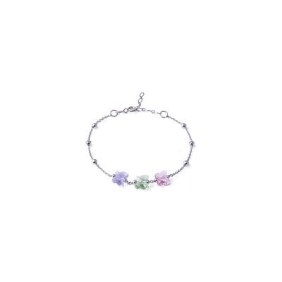 Bracciale in argento Colorato Violet Peridot Rosa