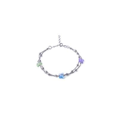 Bracciale in argento Colorato Peridot Turchese Violet