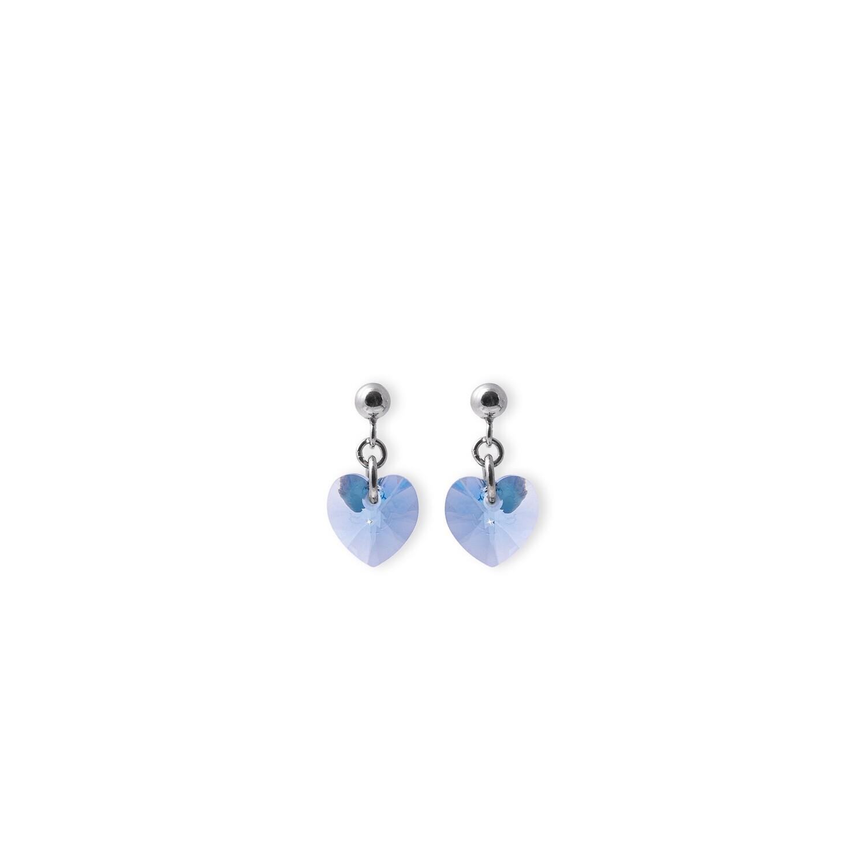 Orecchini in argento da donna AG925 pietra azzurra