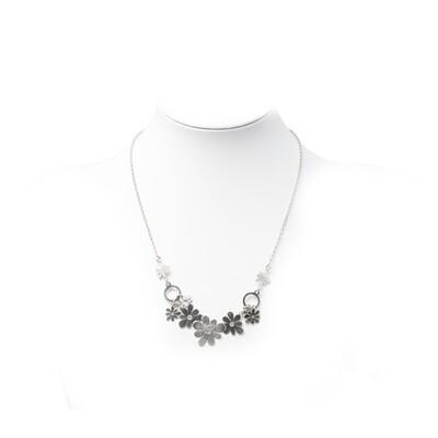 Girocollo con fiori in argento